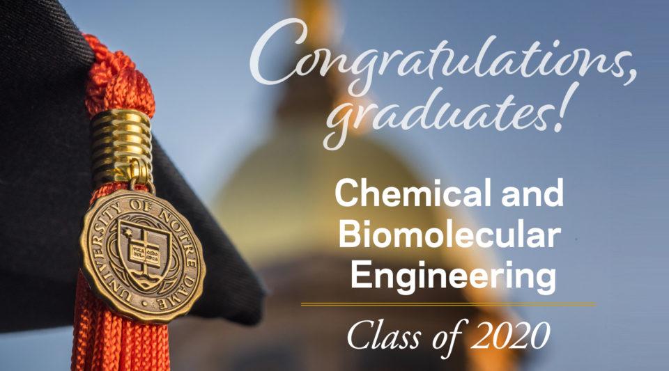 Congratulations CBE 2020 graduates