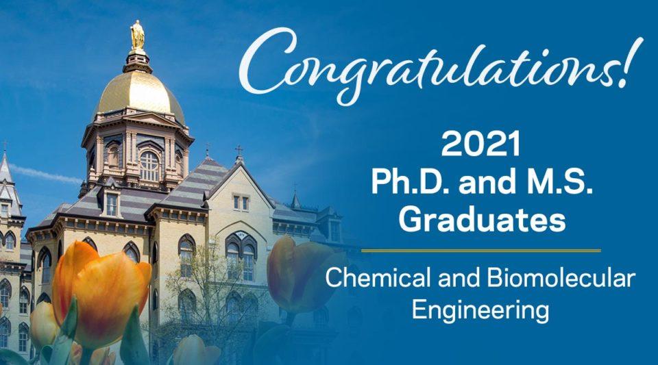 Congratulations 2021 Ph.D. and M.S. graduates